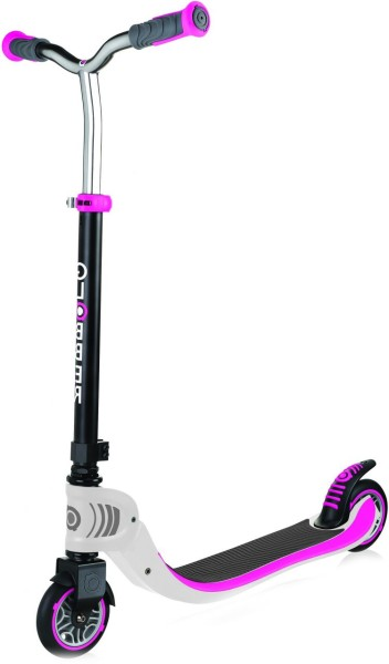 Globber | Scooter | Flow 125 | Foldable | Weiss-Pink